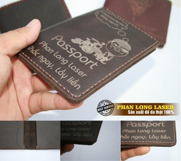 Bóp da đựng Passport bằng da bò thật tại HCM, Hà Nội, Cần Thơ và Đà Nẵng