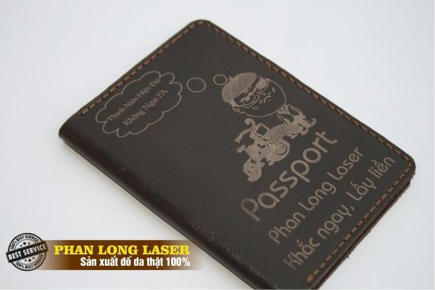 Bóp da đựng passport bằng da thật 100%