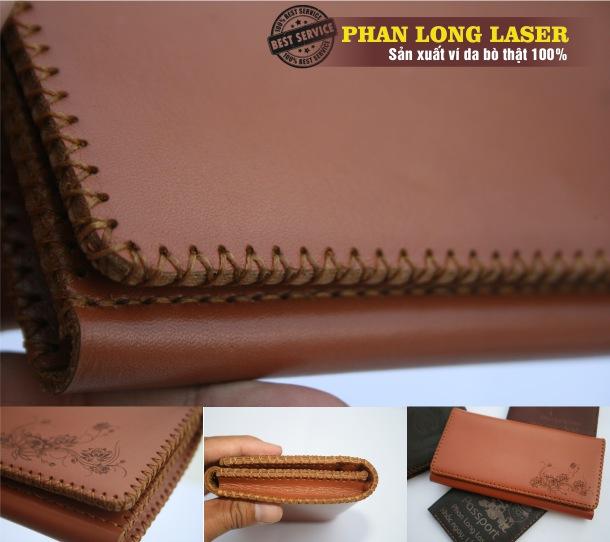 Bóp da nữ làm handmade bằng da bò thật 100% tại Quận Tân Bình và Quận Tân Phú